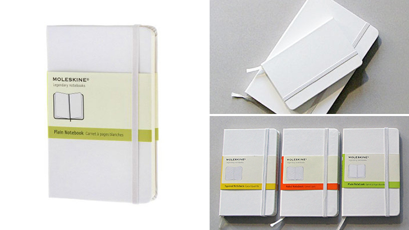 white moleskine